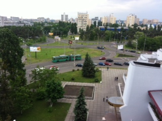 View from our hotel room in Kiev